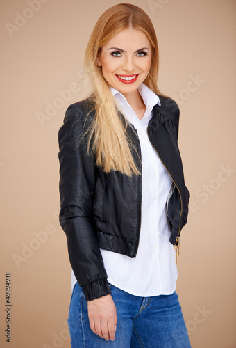 Stylish blond girl