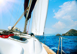 Yacht. Sailing. Yachting. Tourism. Luxury Lifestyle