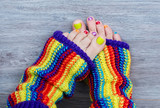 Fototapety Colorful female pedicure