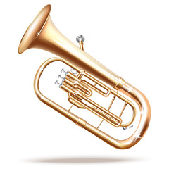 Classical Baritone horn / Euphonium tuba - Vector illustration