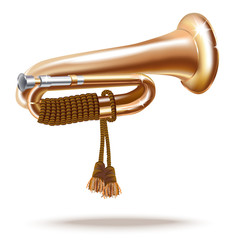 Classical bugle - Vector illustration