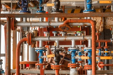 Industrial valve at gas distribution plant
