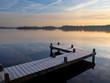 Jetty at lake