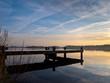 Pier at dutch lake