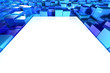 Shiny blue blocks