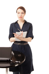 Woman Secretary Isolated