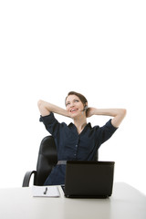Woman Helpdesk Isolated