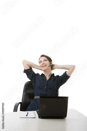 Woman Helpdesk Isolated