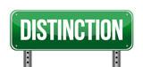 Distinction Road Sign poster
