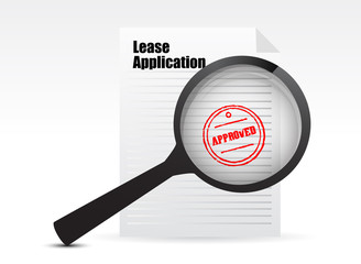 Lease Applications sign