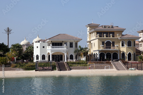 Luxury waterfront buildings at Palm Jumeirah, Dubai