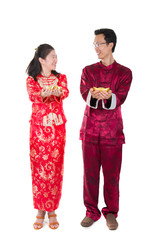 chinese new year husband and wife couple
