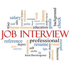 Job Interview Word Cloud Concept