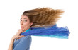 Frau isoliert - Stress & Hektik