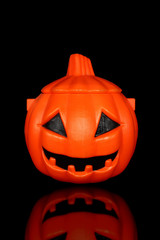 halloween pumpkin bucket isolated