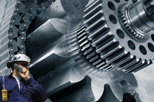 gears and cogs machinery driven by timing chain