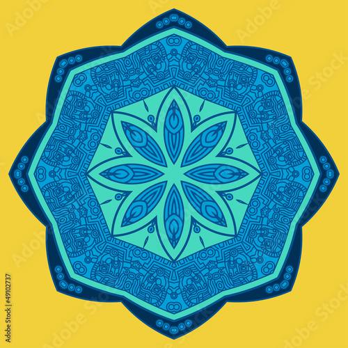 Vector round decorative design element