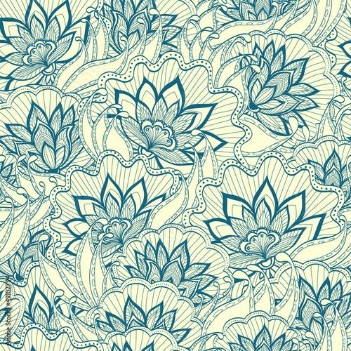 Naklejka Wiosna kwiatów wzór z handdrawn