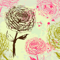 Grungy rose background