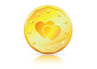 Economy of Love � Heart Symbol on Gold Coin