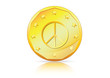 Economy of Peace � Peace Symbol on Gold Coin