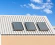 panneaux chauffe-eau solaire sur toiture