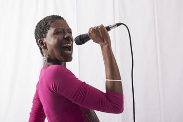 Cantante nera di Jazz