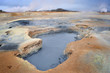 Vulcanic landscape with hot spring.