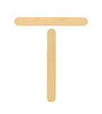 T-tongue depressor isolated on white background