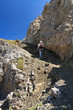 hiker in Dolomites - Alta via Bepi Zac