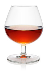 Glass of cognac.