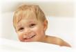 Baby boy bathing