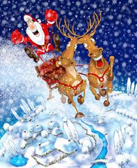 Illustration on the theme of Christmas