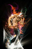 Abstract Image of Dancer with Headphones