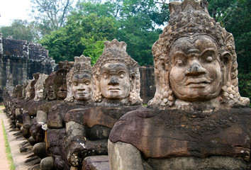 Entrance to Angkor Thom temple in Cambodia