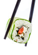 Sushi Roll on a white background