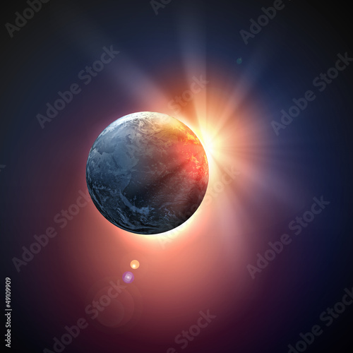 Image of earth planet in space