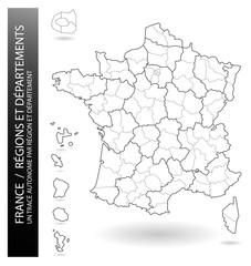 Carte de France - Régions et Départements