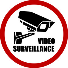 round video surveillance sign