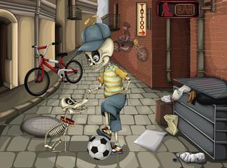 Street skeletons
