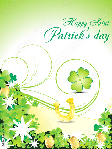 abstract s.t.patricks day background