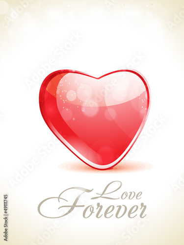 abstract glossy love background with sparkle