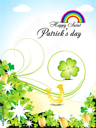 abstract s.t.patricks day background with rainbow
