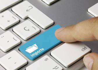Importe Tastatur Finger