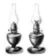 2 Oil Lamps - 19th century