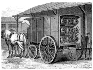 Compressed Gaz Delivery - 19th century