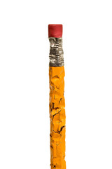 Stressed Out Chewed Pencil XXXL Isolated On White