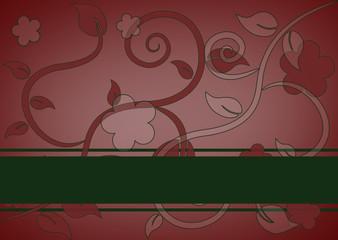 florale Karte, Textfreiraum