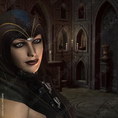 Hohepriesterin im Ritualraum