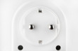 White electric plug